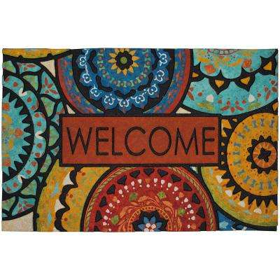 Spanish Suzani Welcome 23 in. x 35 in. Doorscapes Estate Mat