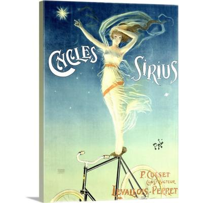 Cycles Sirius Vintage Advertising Poster by ArteHouse Canvas Wall Art