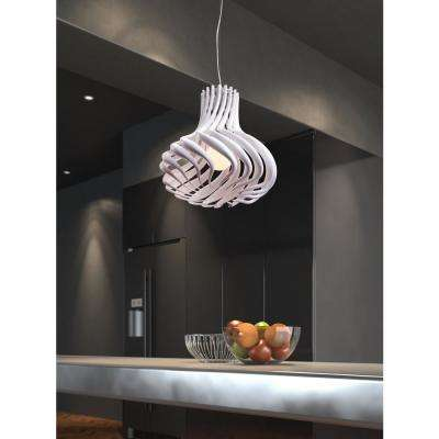 Tsunami 1-Light White Ceiling Lamp