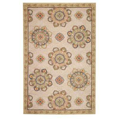 Bianca Beige 3 ft. x 8 ft. Indoor/Outdoor Runner Rug