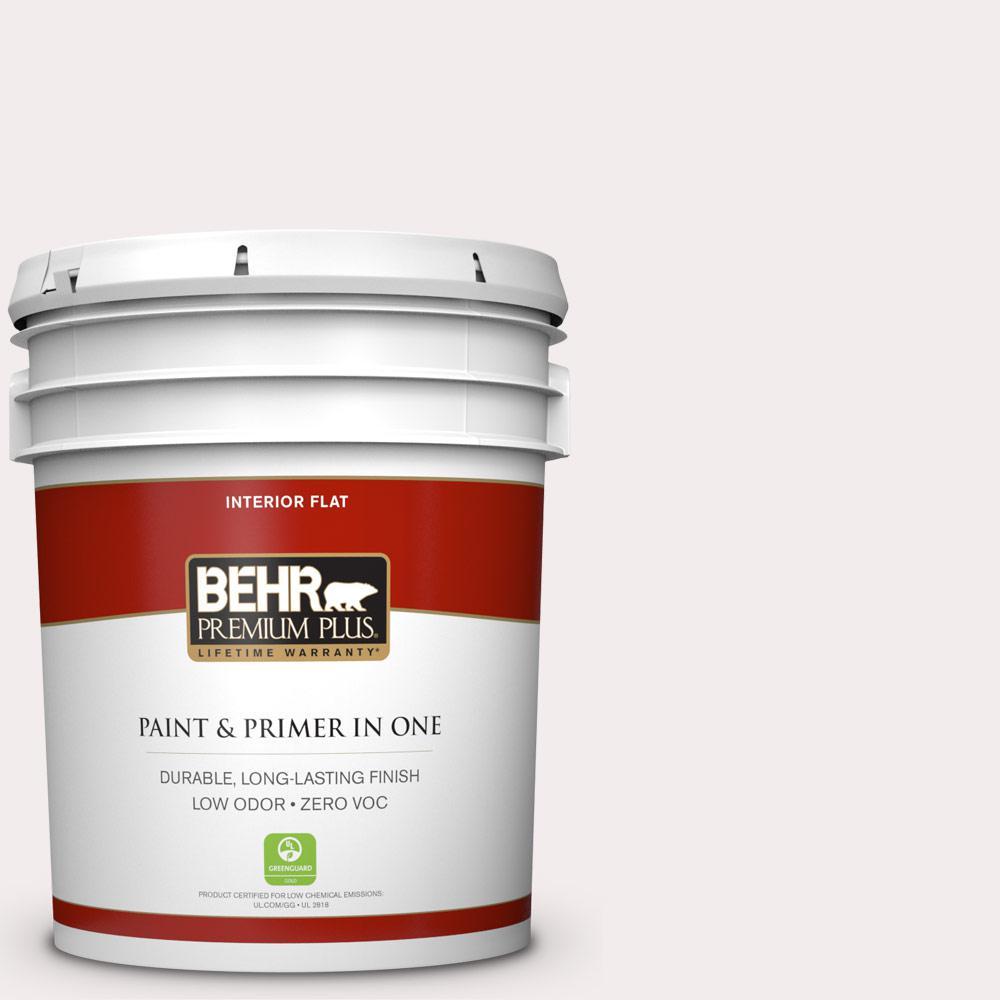 BEHR Premium Plus 5-gal. #PPL-12 Rose Dawn Zero VOC Flat Interior Paint