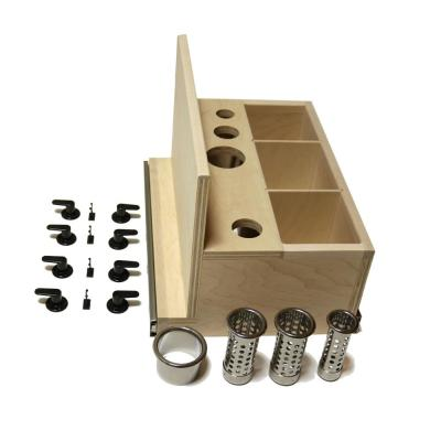 15 in. Opening Pull-Out Hair Appliance Storage System in Unfinished