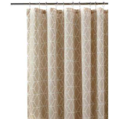 Geome 72 in. Putty Shower Curtain