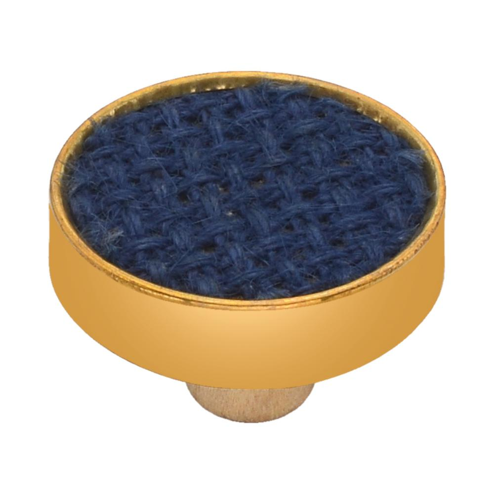 Basketweave 1-3/5 in. Blue Cabinet Knob