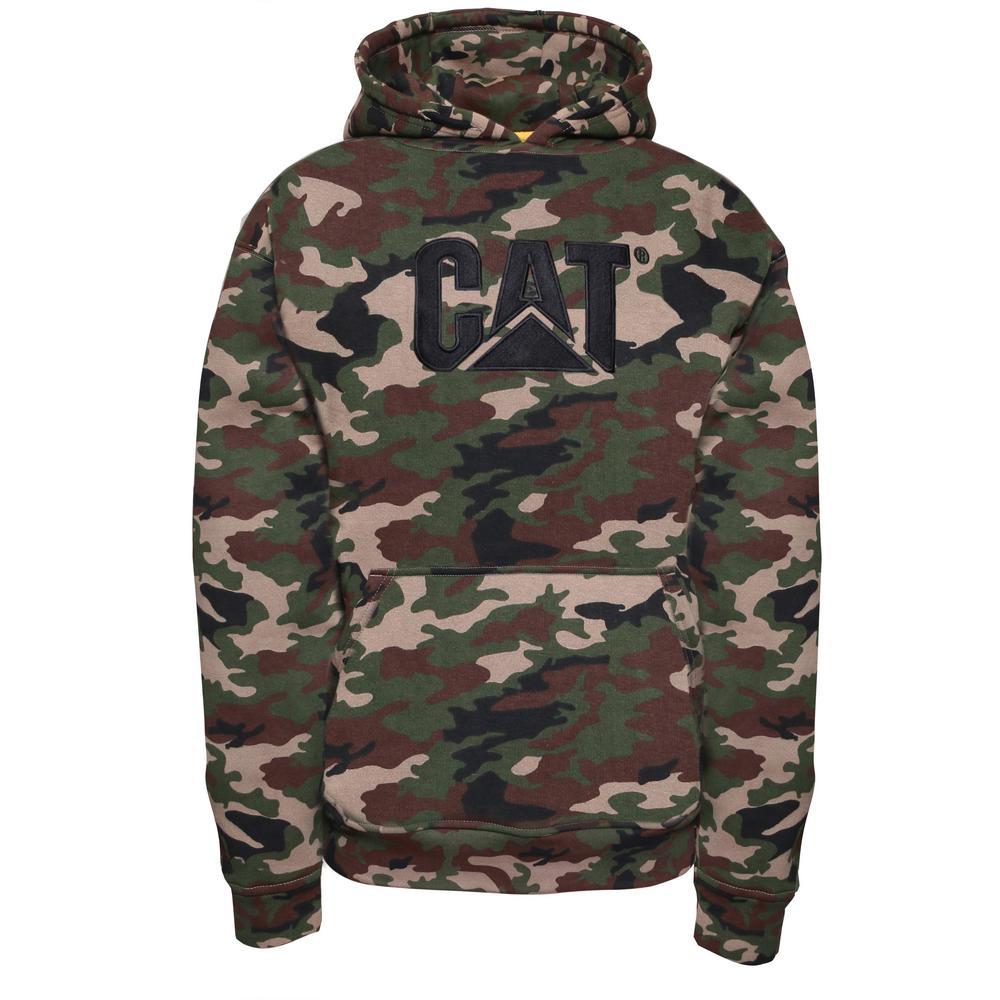 Men's Size X-Large Camo Cotton/Polyester Trademark Hooded Sweatshirt