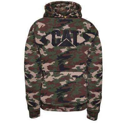 Trademark Men's Size Medium Camo Cotton/Polyester Hooded Sweatshirt