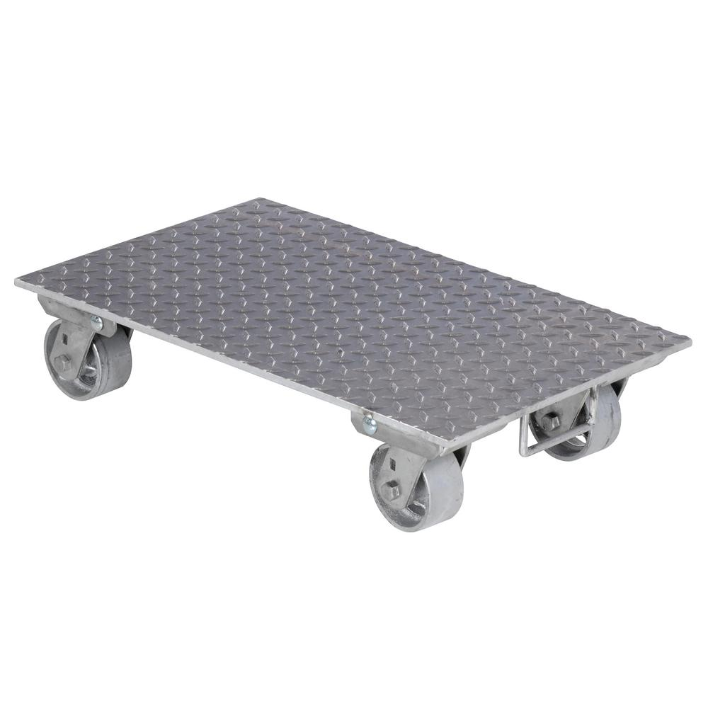 16 in. x 27 in. Aluminum Dolly with Steel Wheels and