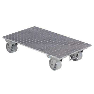 16 in. x 27 in. Aluminum Dolly with Steel Wheels and Handle