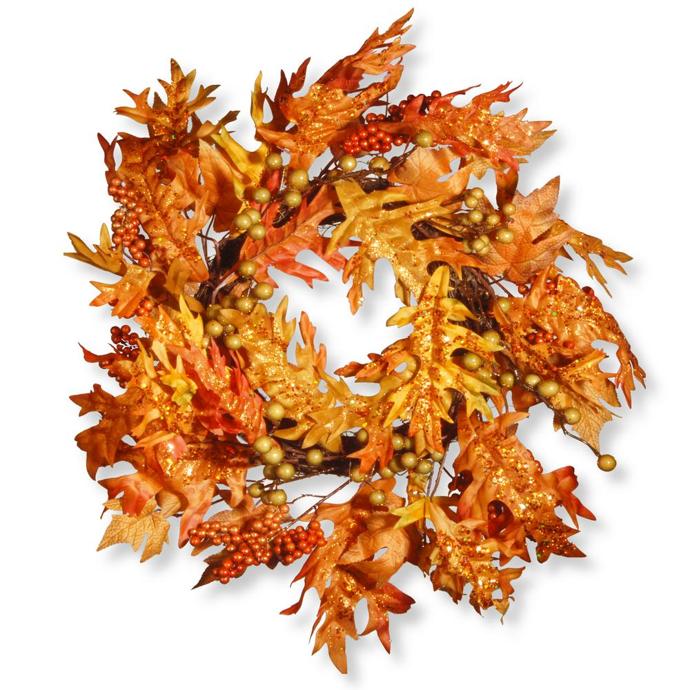 National Tree Company 24 in. Maple Leaf Wreath