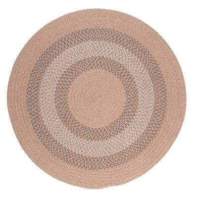 Chancery Oatmeal 6 ft. x 6 ft. Round Braided Area Rug