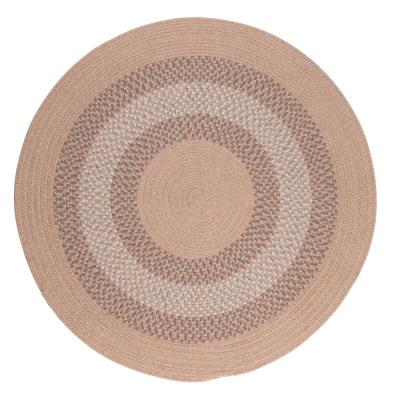Chancery Oatmeal 10 ft. x 10 ft. Round Braided Area Rug
