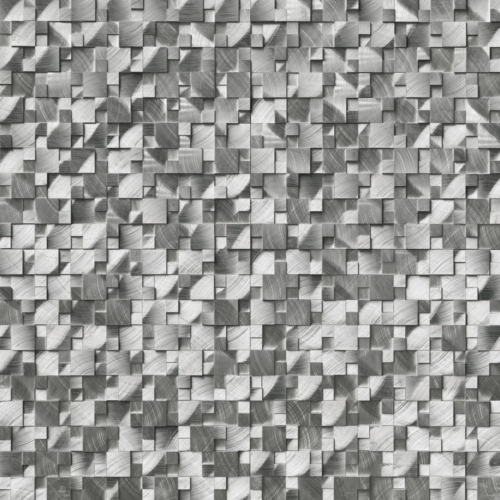 Msi Silver Aluminum Matte Pattern 12 In