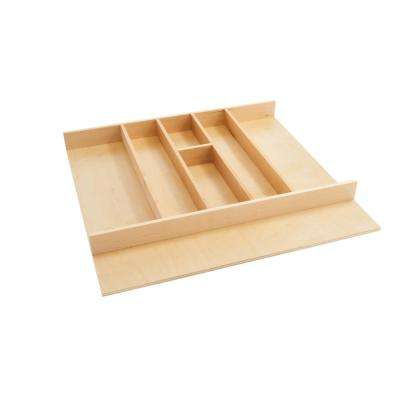 2.38 in. H x 24 in. W x 22 in. D Short Wood Cabinet Drawer Utility Tray Insert