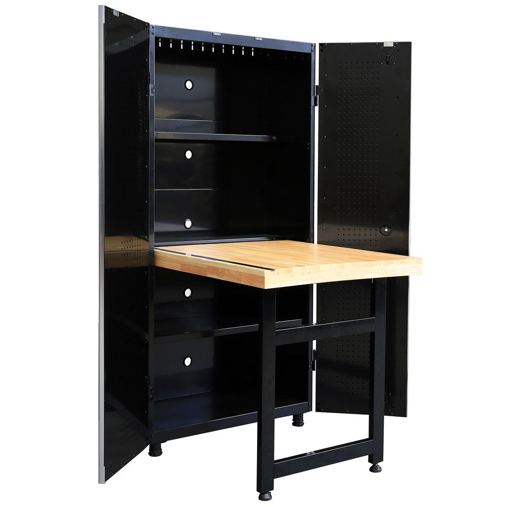 Husky Cabinet With Workbench Ws3672 Hsk The Home Depot