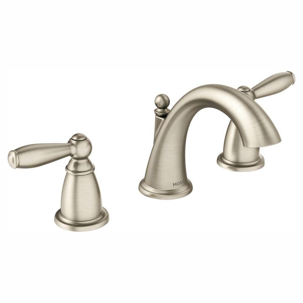 MOEN Brantford 8 in. Widespread 2-Handle High-Arc Bathroom Faucet Trim Kit in Brushed Nickel (Valve Not Included)