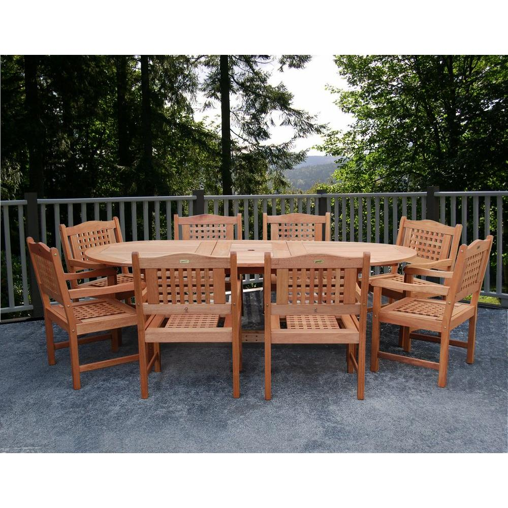 Milano Grand Porto 9-Piece Extendable Patio Dining Set