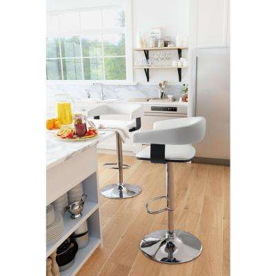 Fuel 32.7 in. White Bar Stool