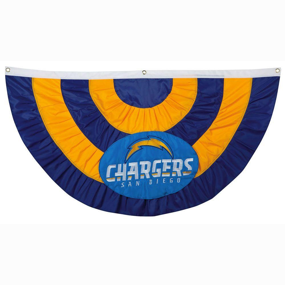 2-1/3 ft. x 5 ft. San Diego Chargers Team Bunting