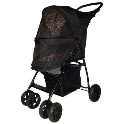 21.5 in. x 11.5 in. x 17 in. Jaguar Happy Trails Lite No-Zip Pet Stroller