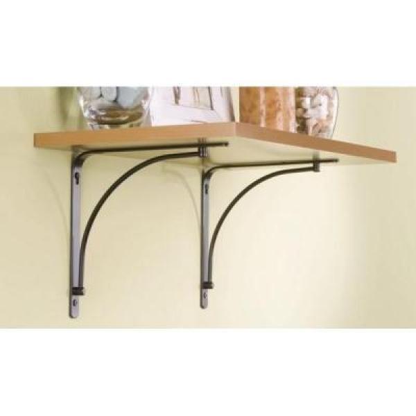 Rubbermaid 6 In X 8 In Bronze Steel Arch Decorative Shelf Bracket 1877643 The Home Depot