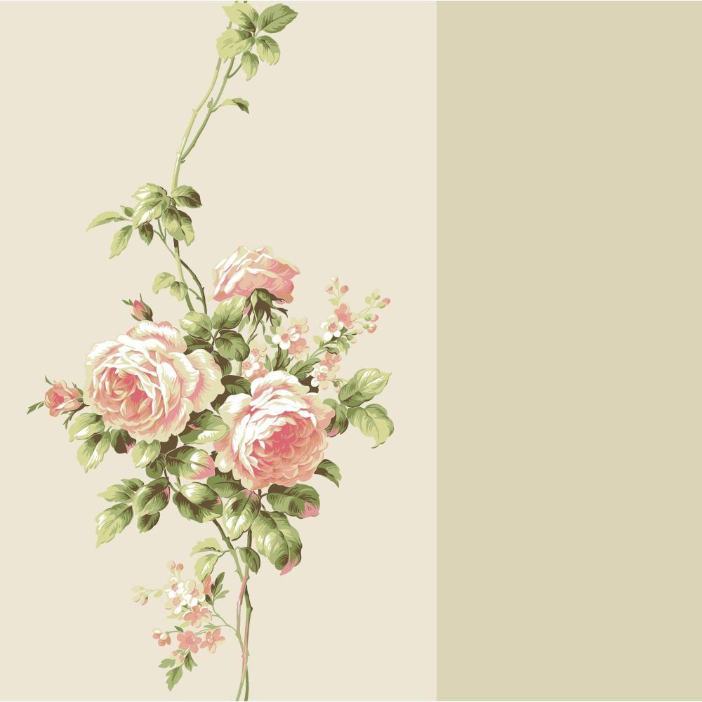 Casabella II Rose Stripe Wallpaper