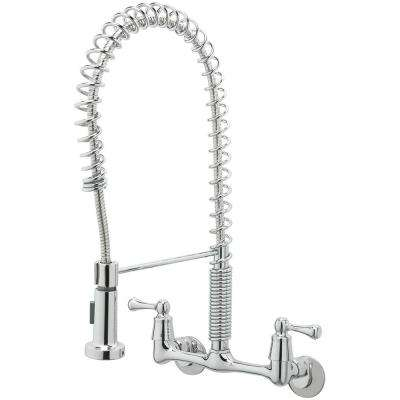 Lovely 2 Handle Wall Mount Pull Down Sprayer Kitchen Faucet ...