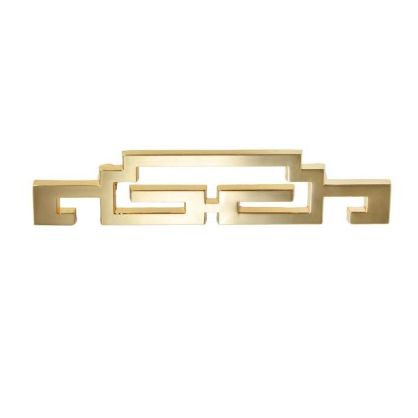 Steffi Polished Gold Cabinet Center-to-Center Pull, 2.5'' Center-to-Center