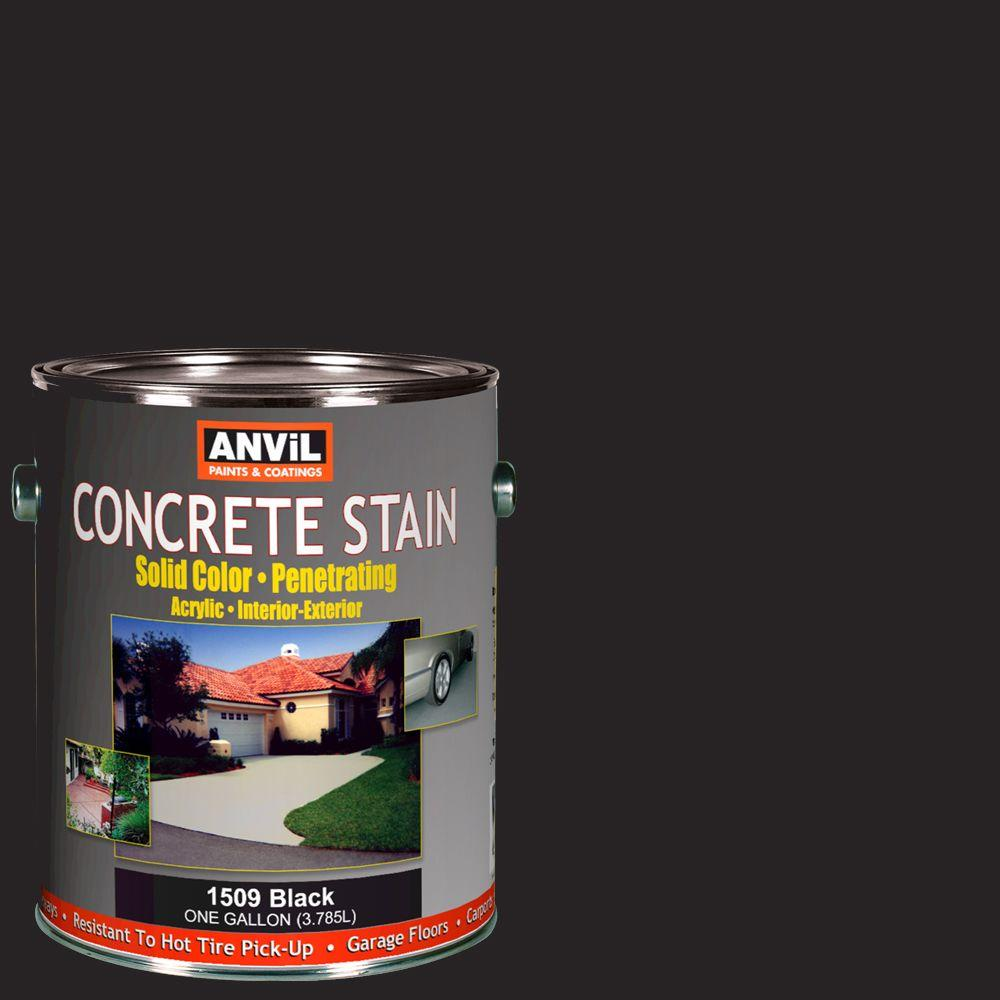 ANViL 1-gal. Black Acrylic Solid Color Interior/Exterior Concrete Stain-DISCONTINUED