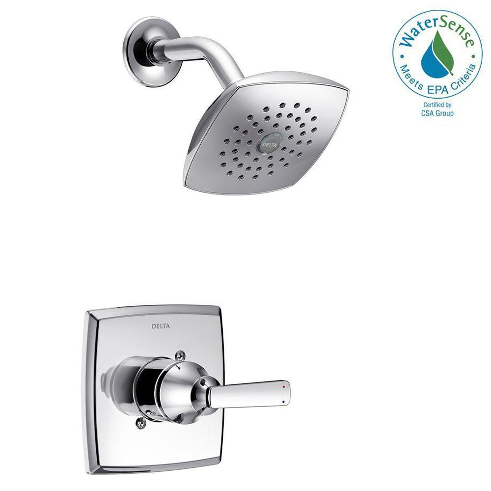 Delta Ashlyn 1 Handle Pressure Balance Shower Faucet Trim Kit In Chrome Valve Not