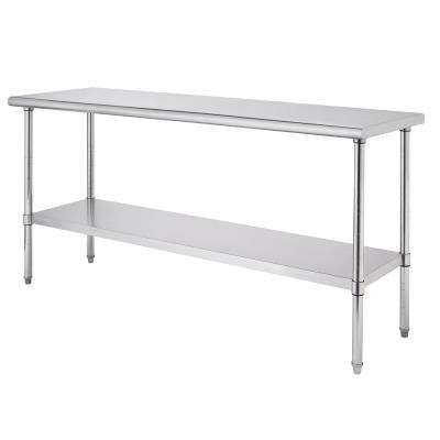 PRO EcoStorage Stainless Steel 72 in. x 30 in. NSF Kitchen Utility Table