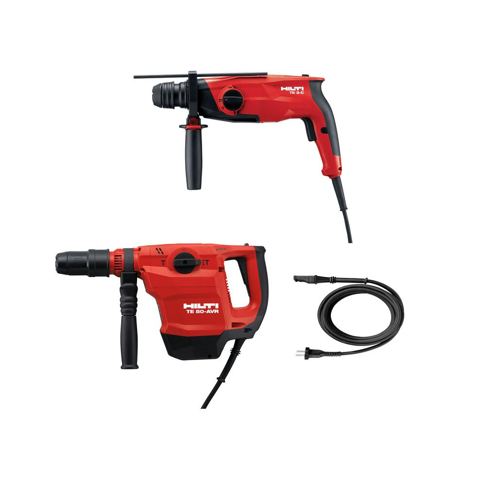Hilti 120 Volt Corded Rotary Hammer 2-Tool Pack -TE 50 AVR SDS Max 3/4 in. Hammer Drill/TE 3-C SDS Plus Hammer Drill/Chipper