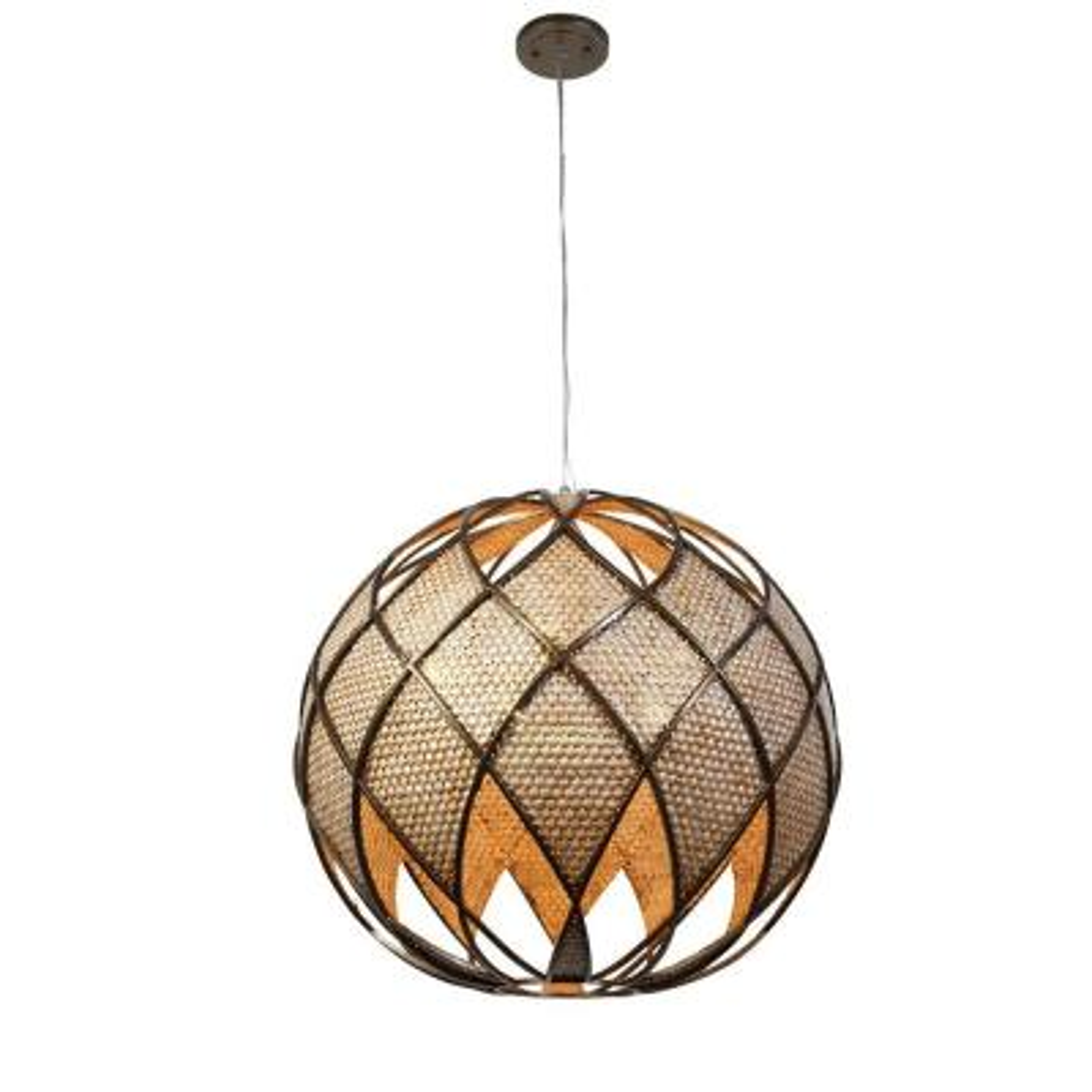 Arygle 5-Light New Bronze and Desert Pearl Pendant