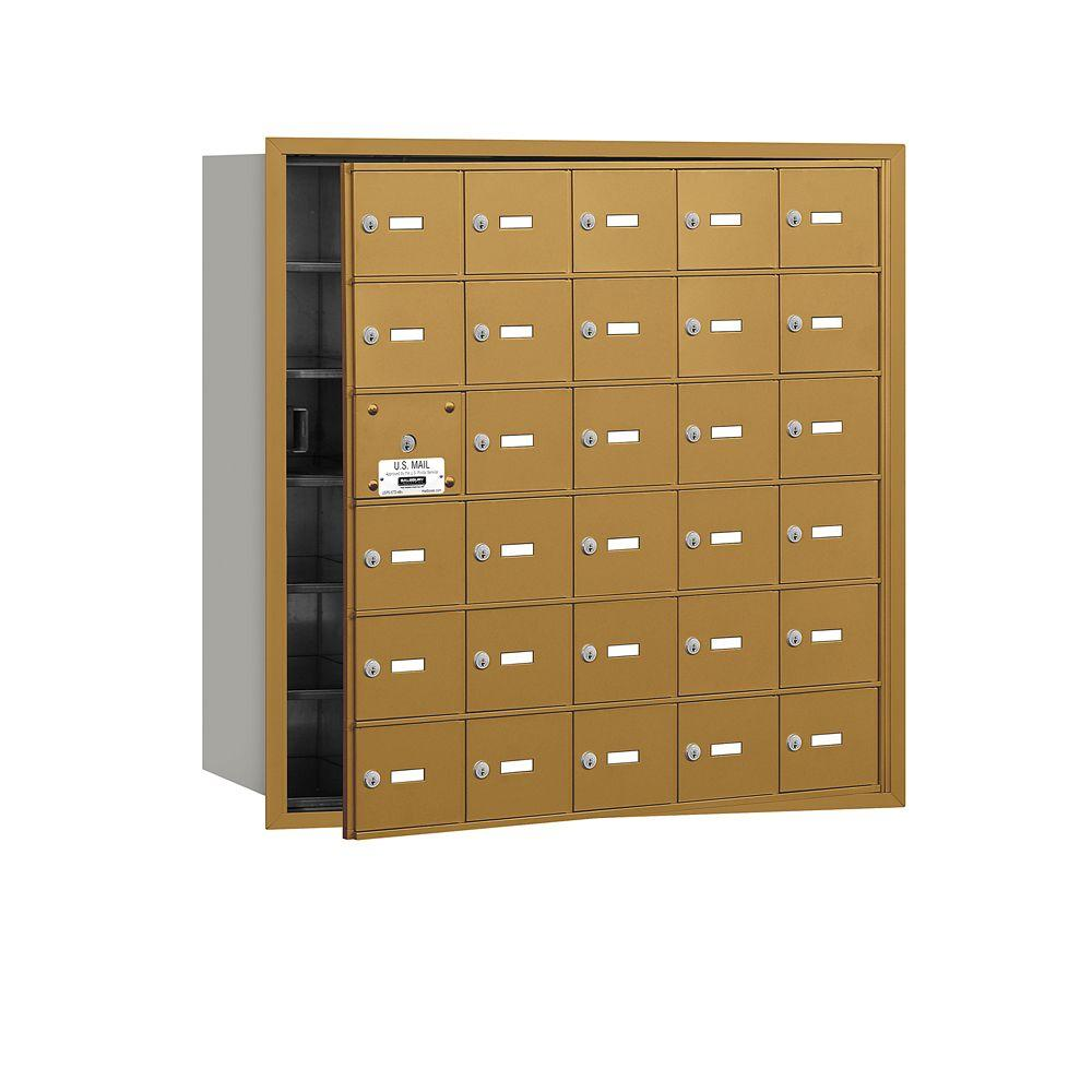Gold USPS Access Front Loading 4B Plus Horizontal Mailbox with 30A