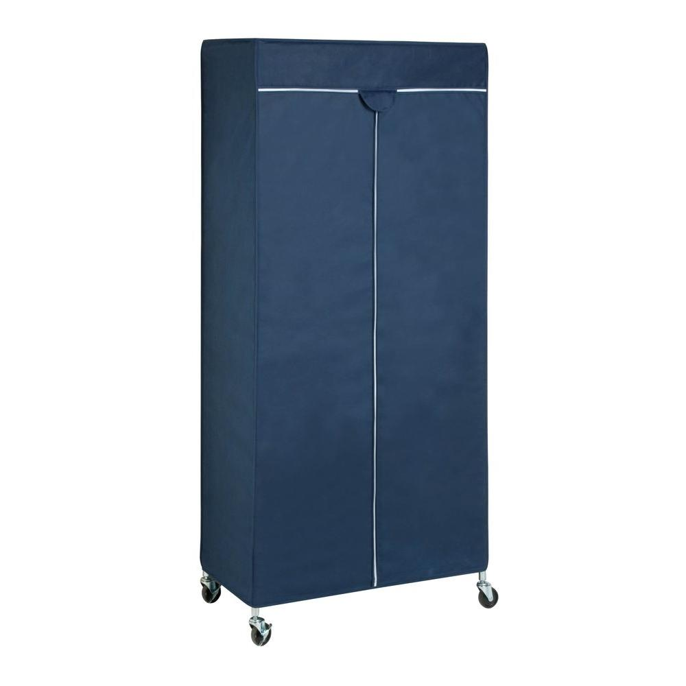 Honey Can Do 35.83 in. x 73.2 in. Garment Rack Cover in Blue GAR