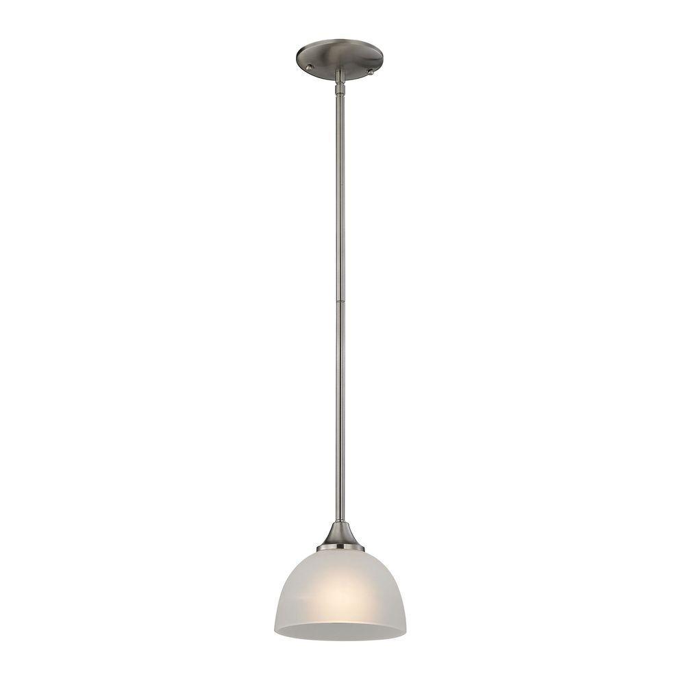 Titan Lighting Bristol Lane 1-Light Brushed Nickel Pendant