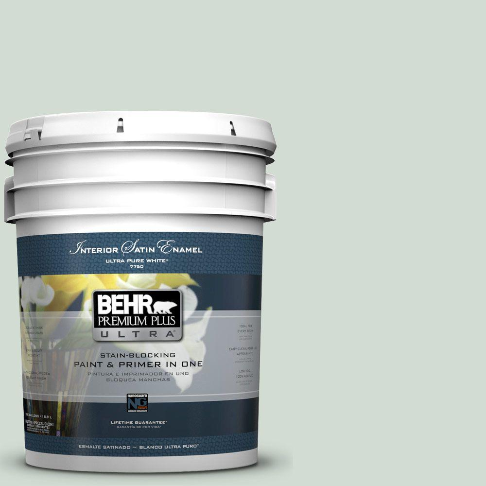 BEHR Premium Plus Ultra 5-gal. #N400-1 Mountain Morn Satin Enamel Interior Paint