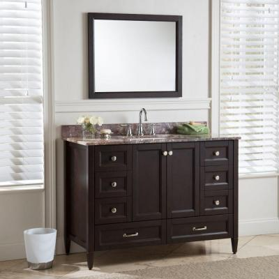 Claxby 48 in. W x 34 in H x 22 in. D Bath Vanity Cabinet Only in Chocolate