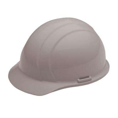 4 Point Nylon Suspension Mega Ratchet Cap Hard Hat in Gray