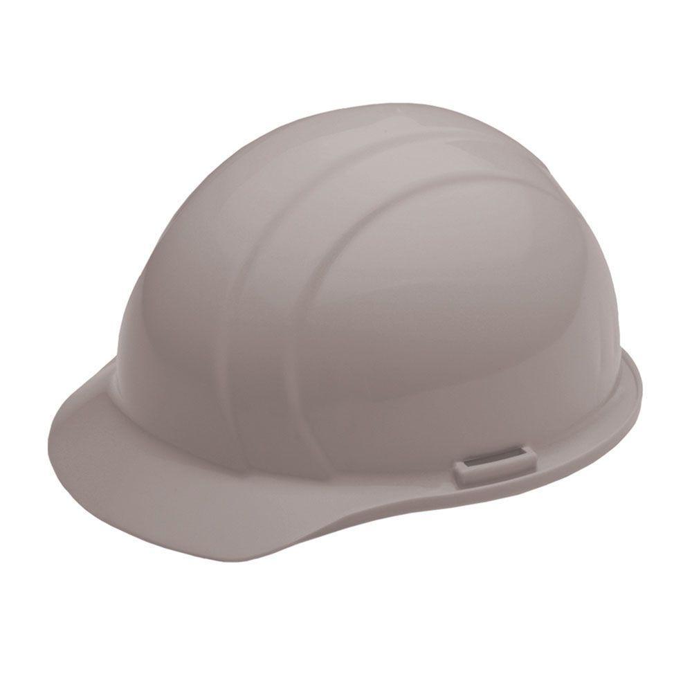 4 Point Nylon Suspension Slide-Lock Cap Hard Hat in Gray