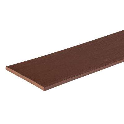 Arbor Collection 1/2 in. x 11-3/4 in. x 12 ft. Mountain Redwood Fascia Capped Polymer Decking Board