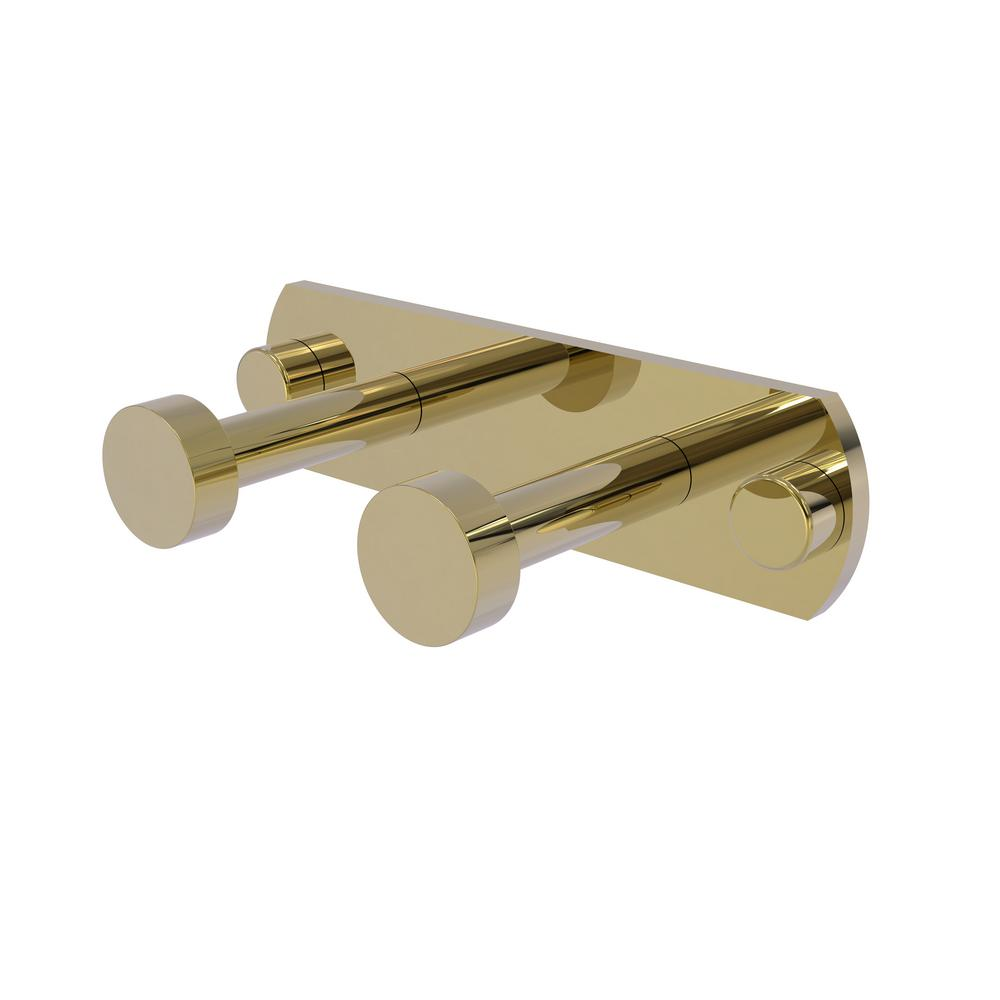 Allied Brass Fresno Collection 2-Position Multi Hook in Unlacquered Brass