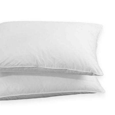 Puredown 50% White Goose Down and 50% White Goose Feather Jumbo Pillow in Standard/Queen (Set of 2)