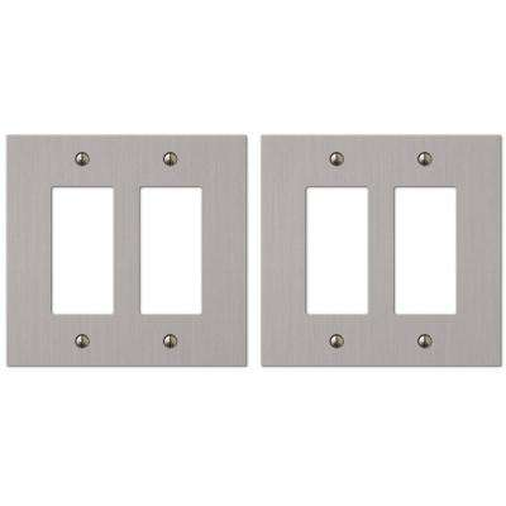 Elan 2 Decorator Wall Plate in Brushed Nickel (2-Pack)