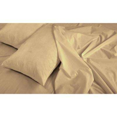 Jill Morgan Fashion 4-Piece Solid Taupe Full Sheet Set