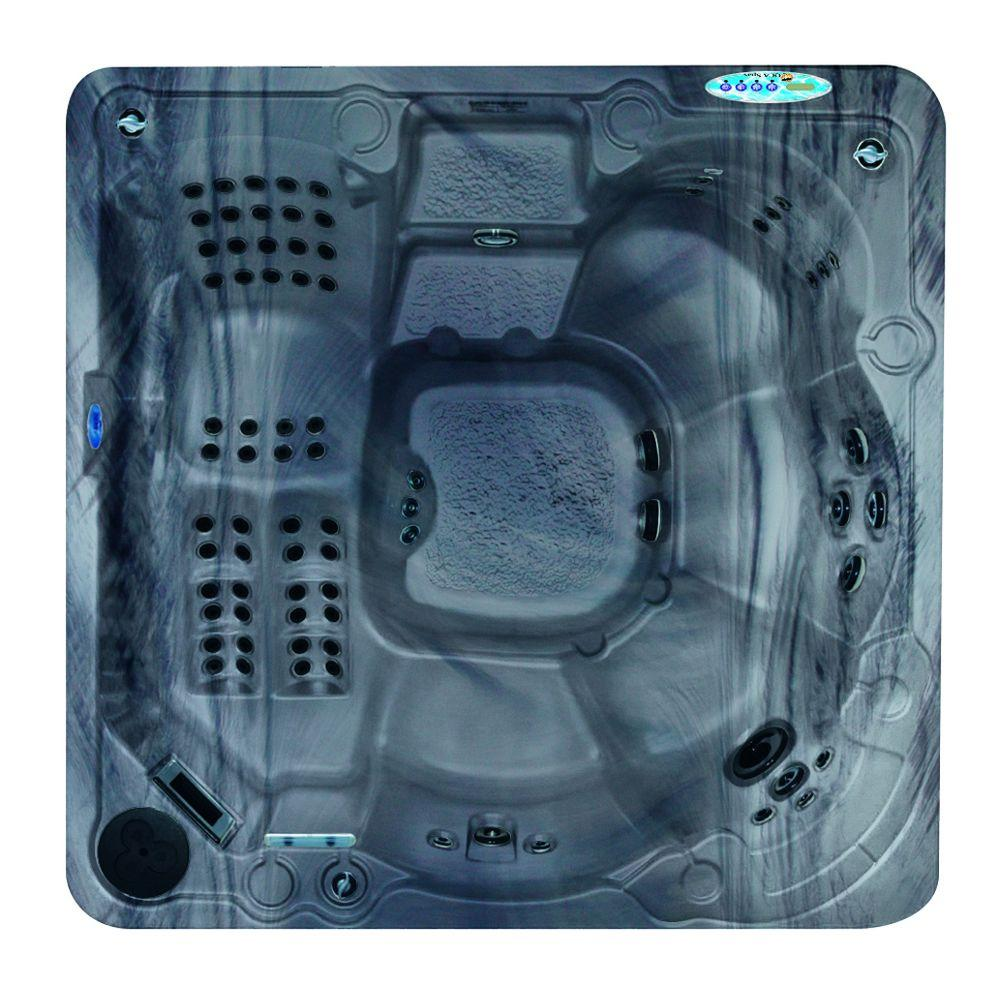 QCA Spas Naples 6-Person 93-Jet Spa with Ultra Wave, Ozonator, LED Light, Polar Insulation, WOW Sound System and Hard Cover