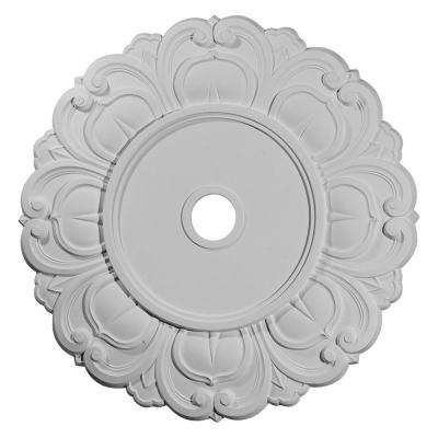 1-1/8 in. x 32-1/4 in. x 32-1/4 in. Polyurethane Angel Ceiling Medallion Moulding