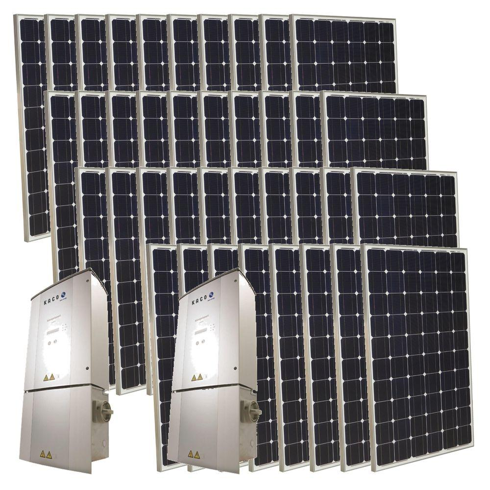 Grape Solar 9,500-Watt Monocrystalline PV Grid-Tied Solar Power Kit-DISCONTINUED