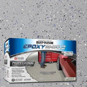 Rust Oleum Epoxyshield 2 Gal Silver Gray Semi Gloss