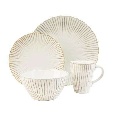 Portura 16-Piece White Dinnerware Set