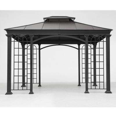 12 ft. x 10 ft. Summerville Gazebo in Black Top